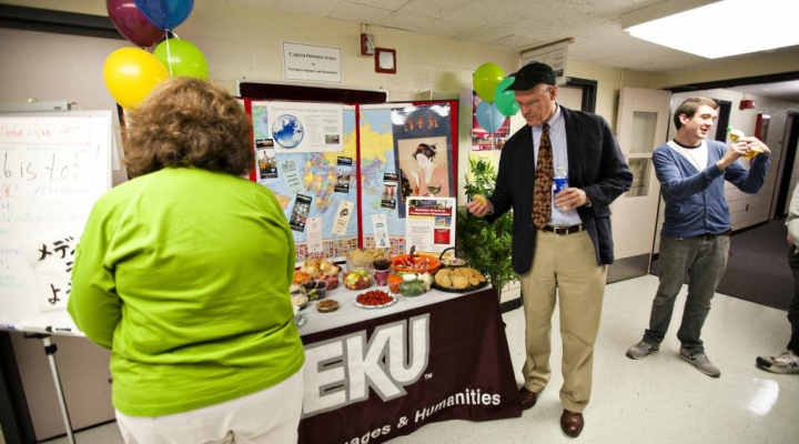 Faculty and Staff attend the grand re-opening of the LCUH Media Lab