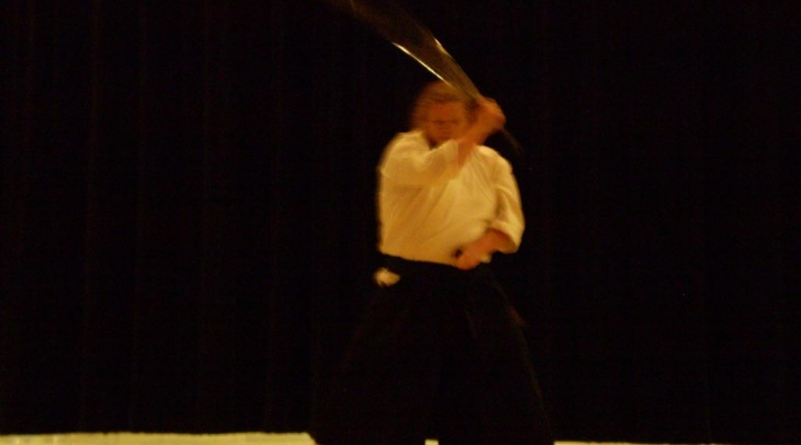 EKU JPN student performs martial arts demonstration at LCUH talent show